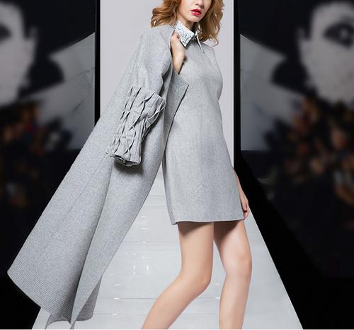 2016秋冬新款欧美 高端羊毛大衣