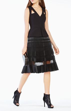 淑女一字步连衣裙